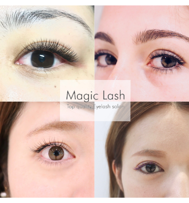Eyelash design like that of bundlelike false eyelashes.【Eyelash extension singapore Magic lash】
