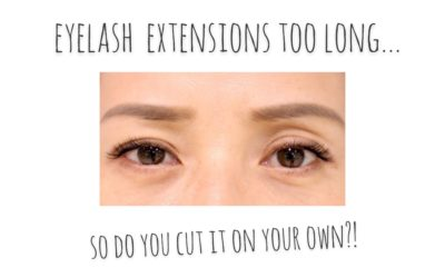 Eyelash extensions too long.. So do you cut it on your own?!まつエクが長すぎる…こんな時にまつエクを自分でカットはアリ?!